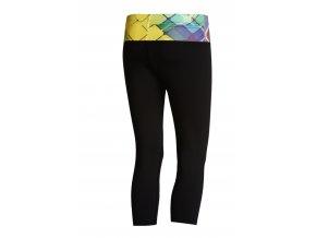 Krátké Běžecké/Fitness Legíny C01 - Black + Colored net
