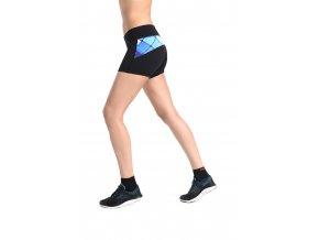 Běžecké/Fitness Šortky - Black + Blue net