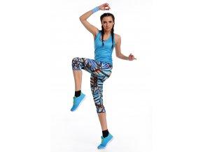 Krátké Běžecké/Fitness Legíny OSTK34 - Nymph butterfly