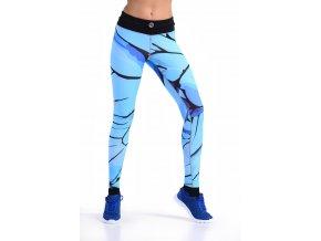 Běžecké Legíny s multifunkčním pasem 56 - Turquoise twig