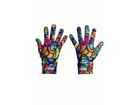 Běžecké rukavice PRO Warm AR-04 - Colored mosaic III