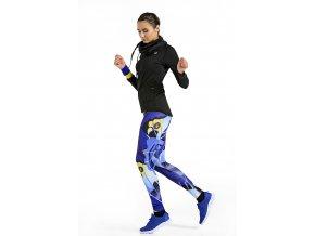 Běžecké Legíny s multifunkčním pasem 54 - Blue avant - Garde