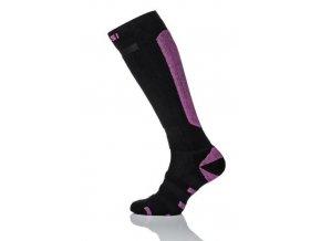 Lyžařské ponožky SN6 - Černá+růžová