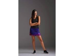 Sportovní sukně se šortkami 46 - Violet twig
