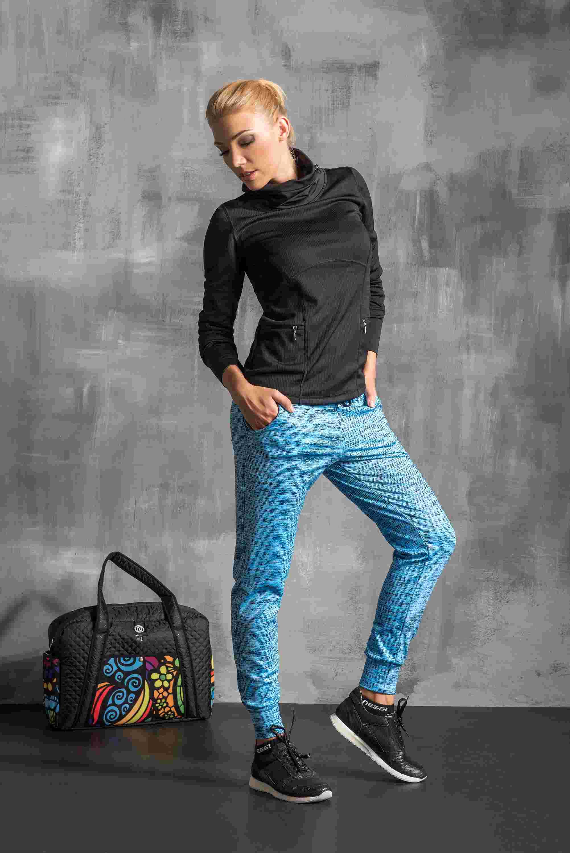 Nessi Volné sportovní kalhoty SDD501 - Blue Melange Velikost: XS