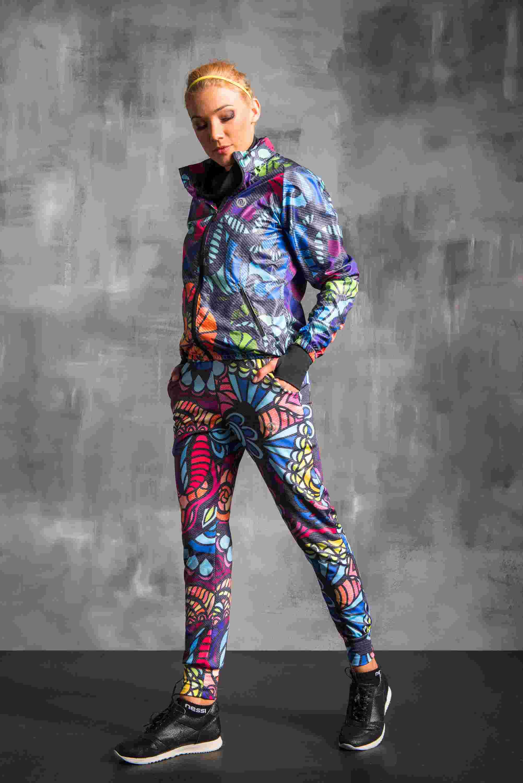 Nessi Volné sportovní kalhoty SDD954 - Mosaic comics jeans Velikost: XS