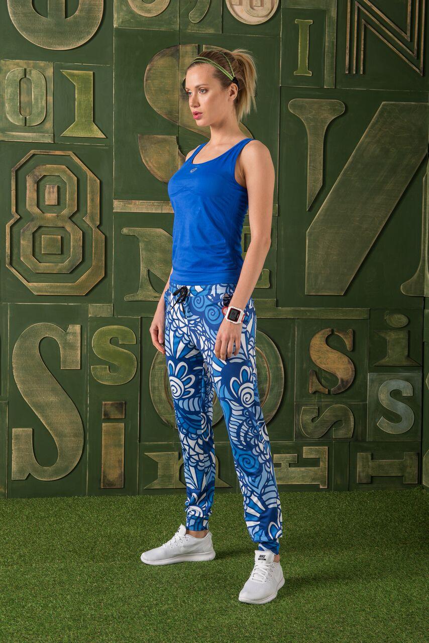 Nessi Volné sportovní kalhoty SDDC129 - Blue Mosaic Velikost: XS