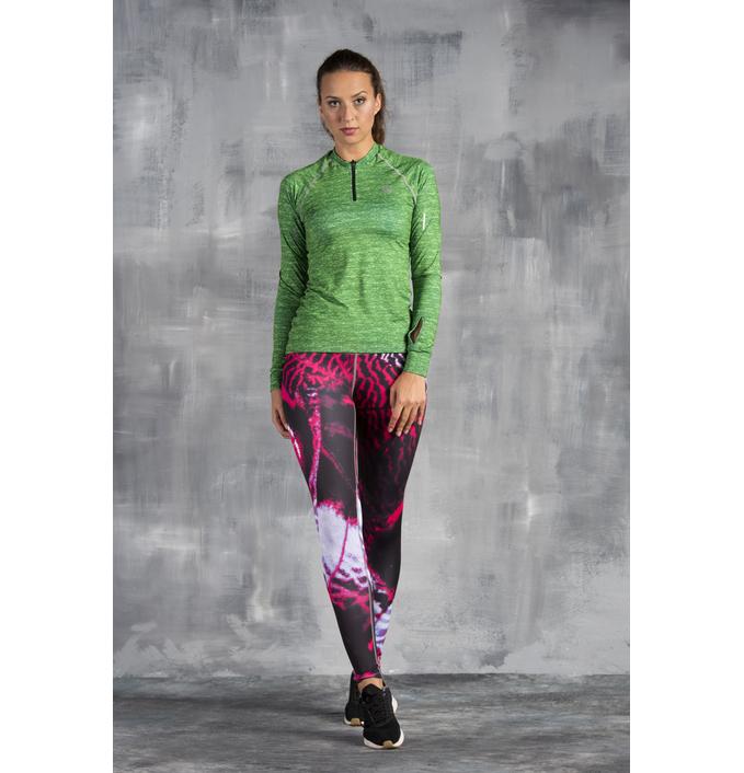 Nessi Běžecké Fitness Legíny OSLK1030 - Pink Butterfly Velikost  XS S 3dab56a133