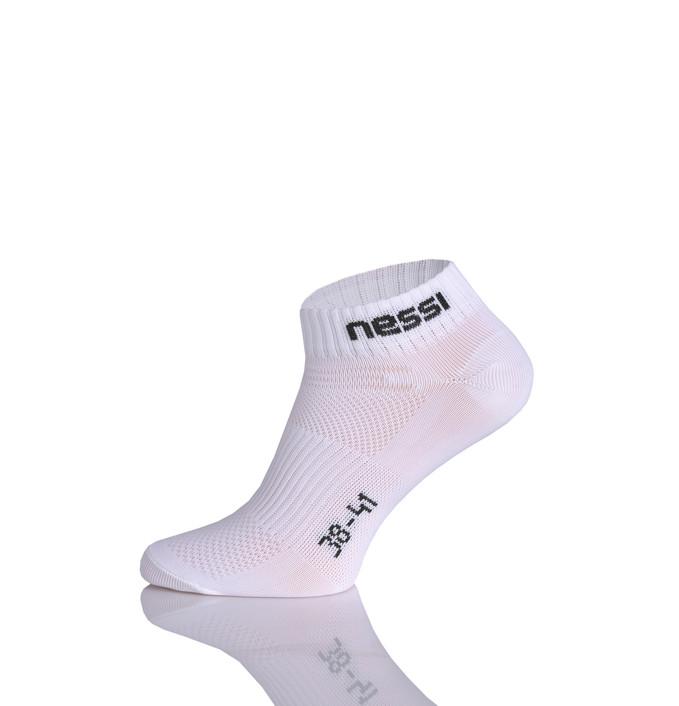 Levně Prodyšné kotníkové ponožky Road S STP-1 White Velikost: 38-41