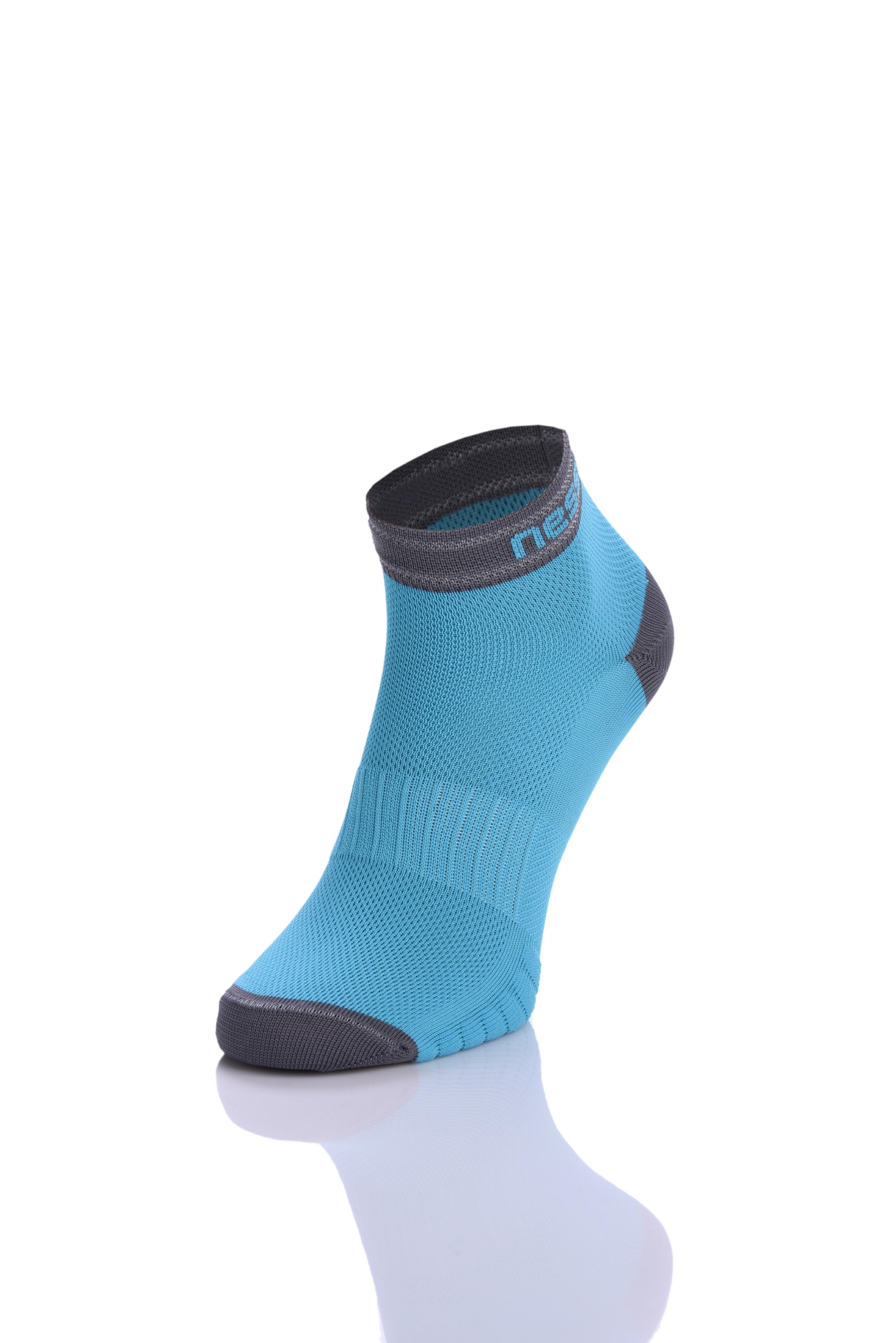 Levně Běžecké ponožky RSO-7 - Tyrkysová Velikost: 45-47