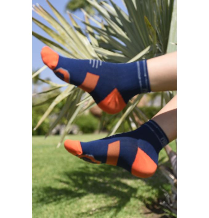 Levně Běžecké ponožky PRO maraton RMO-17 - Modrá Velikost: 42-44