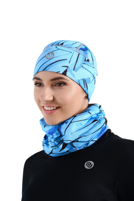 Nessi Sportovní čepice ACZ 56 - Turquoise twig - Unisex Velikost: S/M