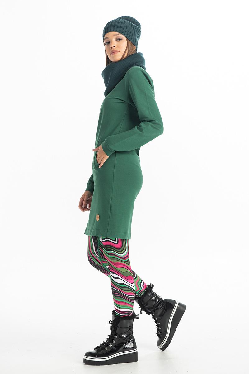 Levně Šaty Gina OSGI-40 Green Velikost: XS