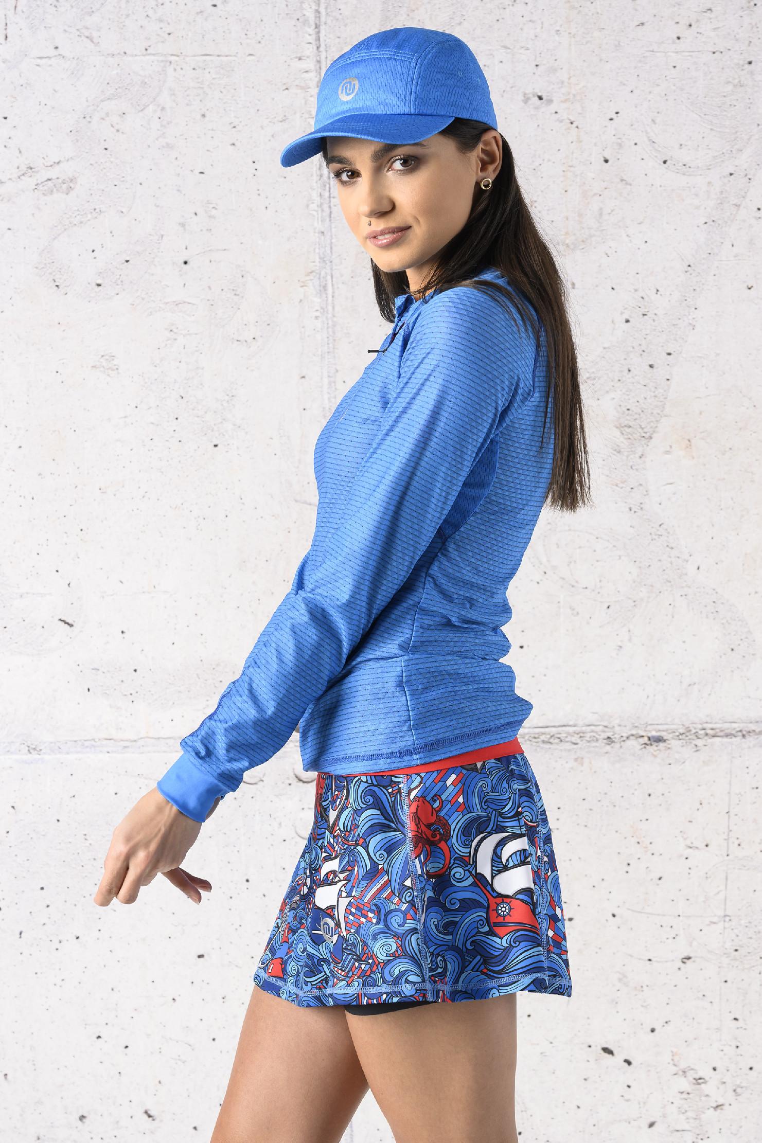 Levně Běžecké Tričko s Dlouhý Rukávem Karbon KLC-05 Blue Velikost: XL