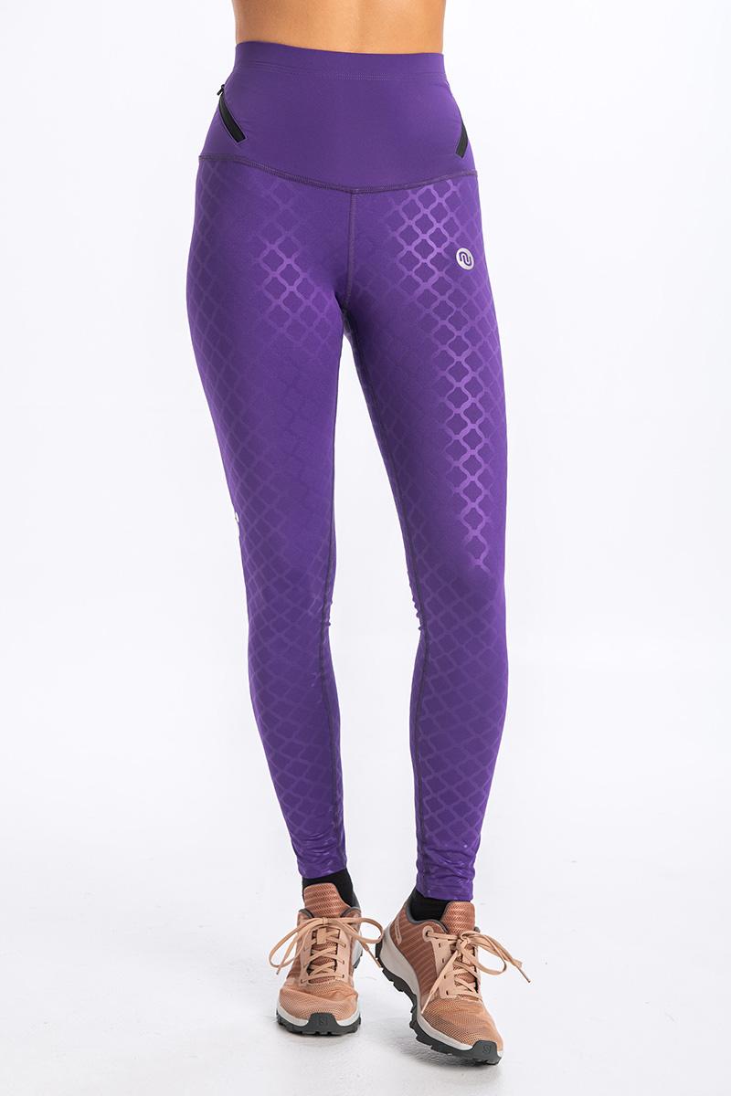 Levně Sportovní Legíny s vysokým pasem OSLZW-1160 Shiny Purple Velikost: XS/S