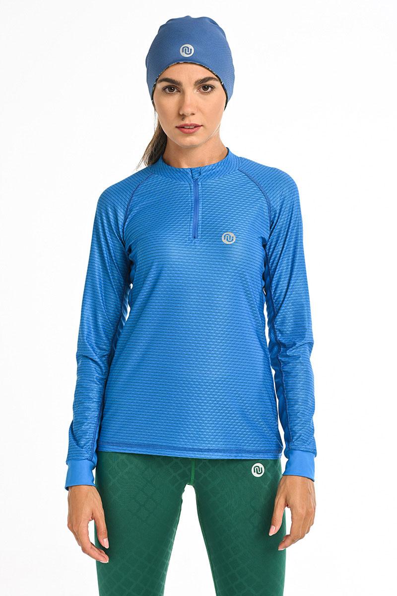 Nessi Běžecké Tričko Karbon s Dlouhý Rukávem KLC-50 Blue Velikost: XS