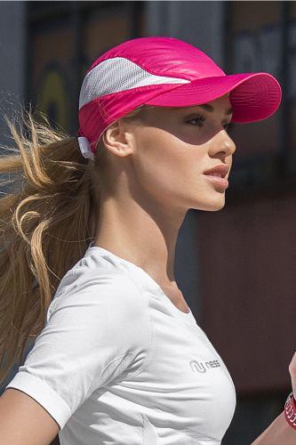 Nessi Letní běžecká kšiltovka ACDL301 - Růžová