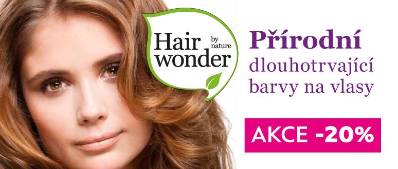 HairWonder - přírodní dlouhotrvající barvy na vlasy