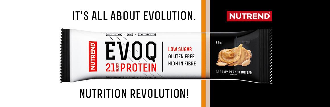 EVOQ -  lahodná, na živiny bohatá low carb proteinová tyčinka