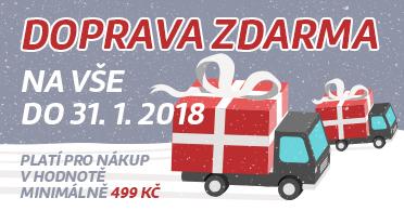 Doprava zdarma na vše do 31.1.2018