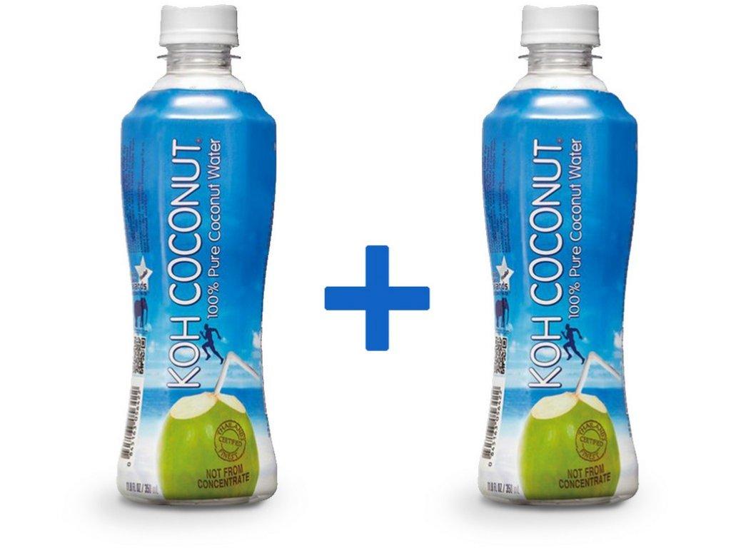 Koh coconut 100% kokosová voda 350ml 1+1 ZDARMA min. trv.13.4.2018
