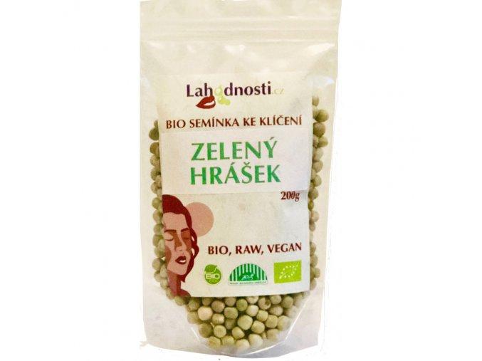 Bio zelený hrášek, semínka ke klíčení 200g