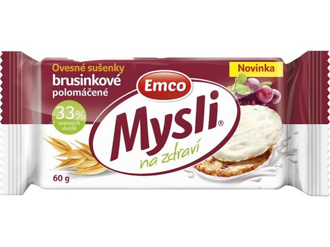 Mysli Ovesné sušenky brusinkové s jogurt.polevou 60g