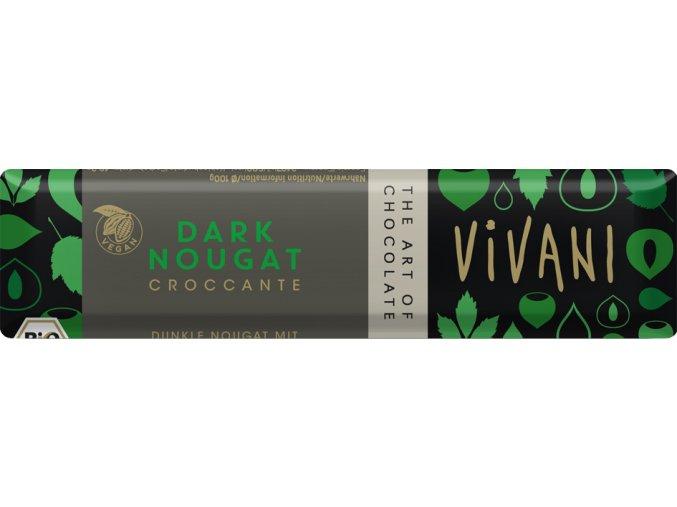 Bio tyčinka Čokoládová nugátová tmavá 35g