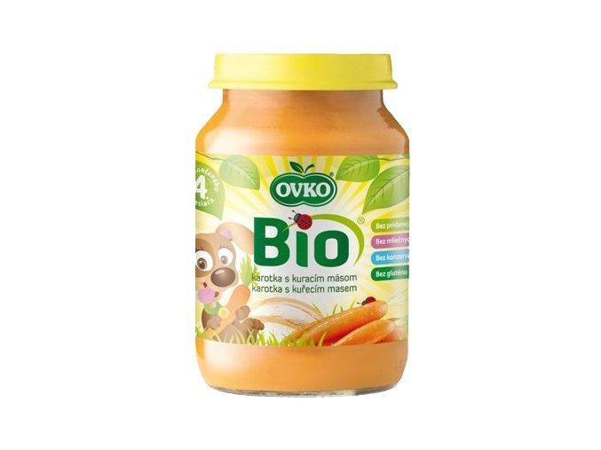 Bio Dětská výživa karotka s kuřecím masem OVKO 190g