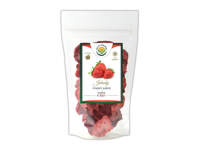 Jahody plátky sušené mrazem - lyofilizované
