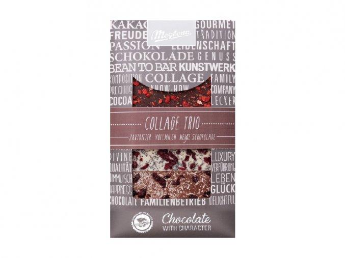 Zdobená čokoláda Trio 3x30g