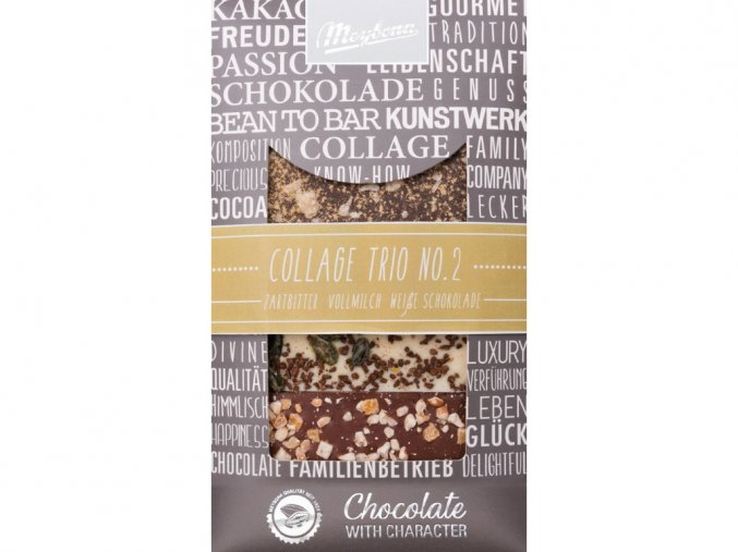 Zdobená čokoláda Trio No.2 3x30g