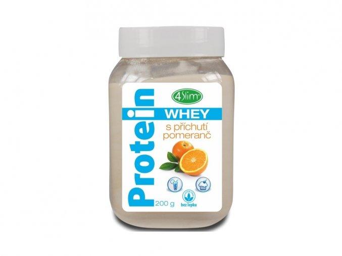 Whey protein s příchutí pomeranč 200 g
