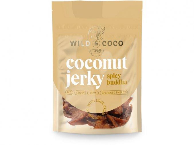 Bio kokosové jerky pikantní buddha 25g, min. trv. 19.10.2019