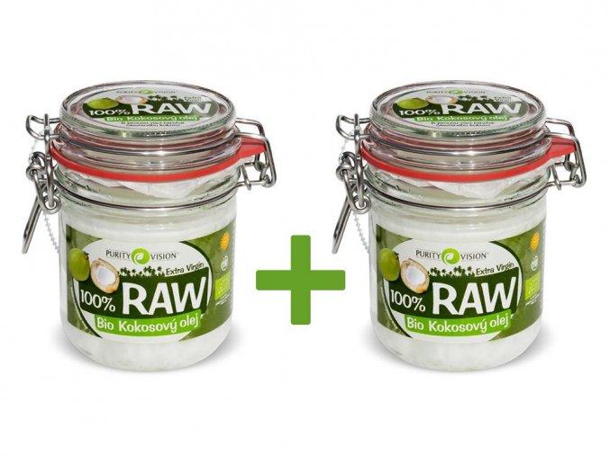 Bio 100% RAW Kokosový olej 300ml AKCE 1+1