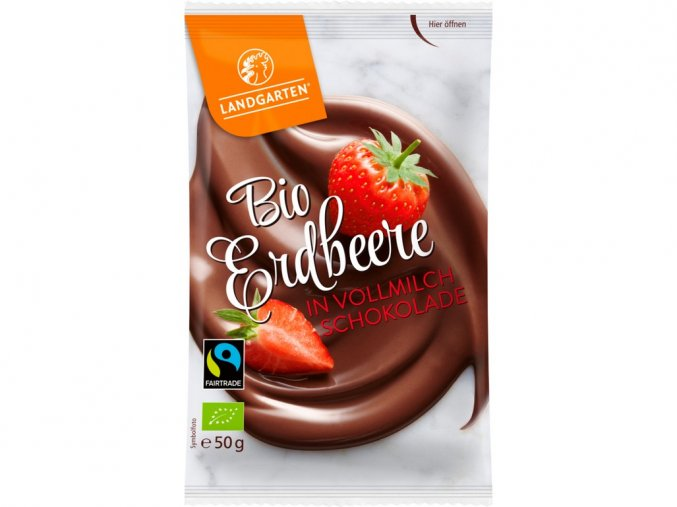 Bio Jahody v mléčné čokoládě 50g