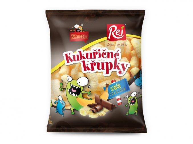 AKCE - Křupky banánové s čokoládou 90g, Min. trv. 30.9.2020