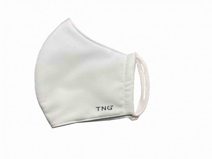 TNG Rouška textilní 3-vrstvá vel. M bílá