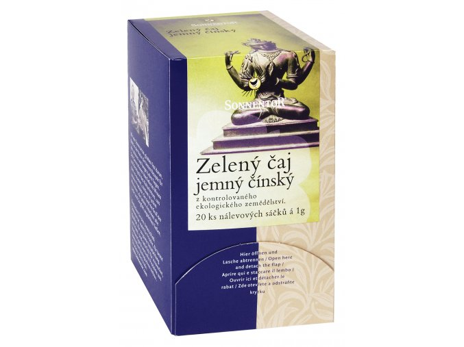 Bio Zelený čaj - jemný čínský porc. dárkový 27g