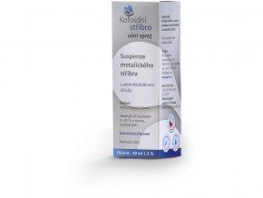 Koloidní stříbro sprej 30 ml Ušní aplikátor 50 ppm