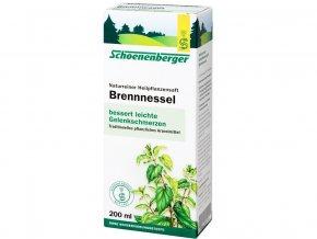 Bio čerstvá rostlinná šťáva Schoenenberger - Kopřiva 200ml