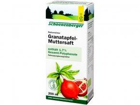 Bio čerstvá rostlinná šťáva Schoenenberger - Granátové jablíčko 200ml