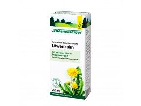 Bio čerstvá rostlinná šťáva Schoenenberger - Smetánka lékařská 200ml