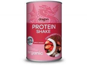 Bio proteinový koktejl jahoda a kokos 450g