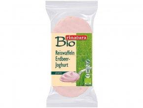 Bio chlebíček rýžový s jogurtovou čokoládou a jahodovou příchutí 100g