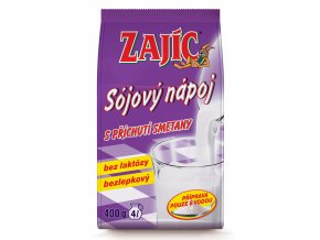 Sójový nápoj Zajíc s příchutí smetany 400g sáček