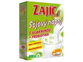 Sójový nápoj Zajíc s vlákninou 400g