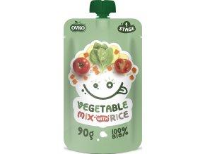 Bio kapsička zeleninová směs s rýží OVKO 90g