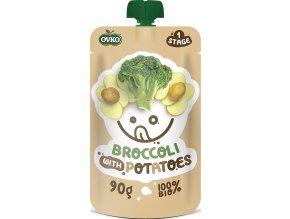 Bio kapsička brokolice s bramborami OVKO 90g