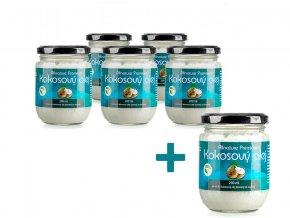 Bio Kokosový olej 200ml AKCE 5+1